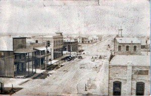 Williams Building front shown on the right, early 1900s